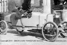 Marlborough. 1913.  Lady Samuelson at the wheel.